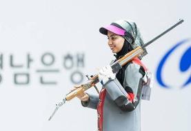 دختر بوشهری در مرحله نهایی مسابقات جهانی تیراندازی