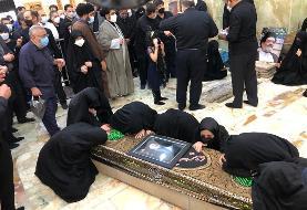 خاکسپاری حجت الاسلام محتشمی پور در حرم حضرت عبدالعظیم(ع)