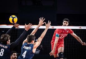 لیگ ملتهای والیبال؛ ایران ۳- امریکا ۰ / برتری مطلق شاگردان آلکنو مقابل یانکیها