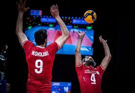 لیگ ملتهای والیبال/ پیروزی قدرتمندانه ایران برابر آمریکا