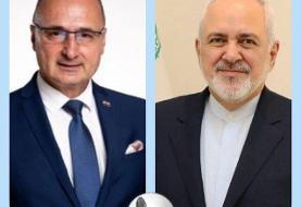 رایزنی تلفنی وزیران امور خارجه ایران و کرواسی