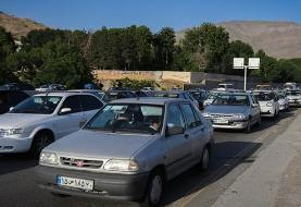 ترافیک سنگین در ۳ محور تهران-شمال و جاده فشم/پرترددترین جادهها در شبانه روز گذشته