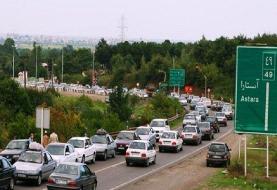 مسافرت در شرایط قرمز کرونا ادامه دارد | ترافیک سنگین در اغلب محورهای شمالی | آخرین وضعیت راههای ...