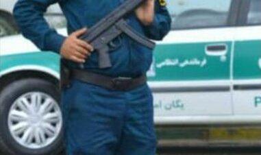 جان باختن یک افسر ناجا در جریان تیراندازی به نیروی انتظامی در اغتشاشات ماهشهر