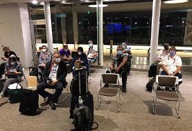 عکس | تیم خبری جمهوری اسلامی وارد توکیو شد