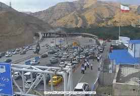ترافیک سنگین در جادههای منتهی به شمال