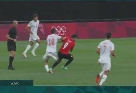 تصاویر | خطای وحشتناک بازیکن مصری روی یک رئالی در المپیک توکیو