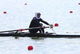 دختر قایقران ایران به مرحله یک چهارم نهایی صعود کرد