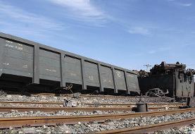 خروج ۶ واگن یک قطار باربری از خط | راهآهن سراسری جنوب مسدود شد