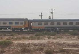 خروج قطار باری از ریل در استان لرستان