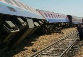 جزییات واژگونی ۶ واگن یک قطار باری در محور جنوب