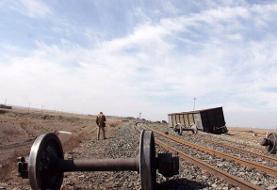 خروج ۶ واگن باری از خط آهن