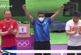 ببینید | لحظه تاریخی کسب اولین مدال تیراندازی ایران در المپیک