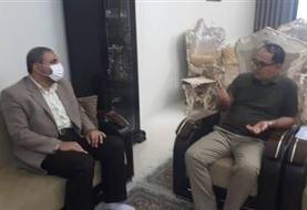 عیادت معاون قضایی سازمان زندان ها از رییس زندان مرکزی اراک