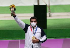 تبریک ربیعی برای کسب مدال طلای المپیک توسط جواد فروغی