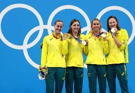 رکورد شنای امدادی زنان جهان شکسته شد