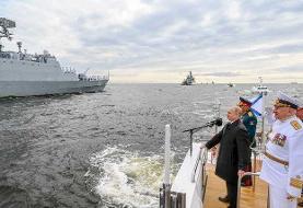 با حضور مقتدرانه ناوگروه نیروی دریایی ارتش، رژه بزرگ دریایی روسیه برگزار شد