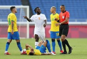 فوتبال المپیک ۲۰۲۰ | برزیل مقابل ساحل عاج متوقف شد
