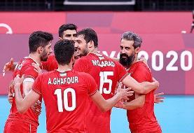 المپیک توکیو   پیروزی قاطع والیبال ایران برابر ونزوئلا