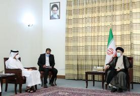 رئیسی در دیدار وزیر خارجه قطر: اطمینان داشته باشید که ایران خیرخواه همسایگان خود است