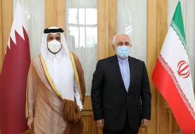 وزیر امور خارجه قطر به تهران سفر کرد