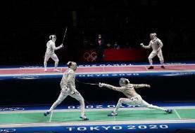 تیم شمشیربازی ایران به نیمه نهایی نرسید   حسرت مدال المپیک توکیو با شکست میلیمتری از ایتالیا
