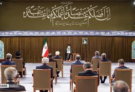 دیدار رئیسجمهور و هیئت دولت دوازدهم با رهبر انقلاب/تصاویر
