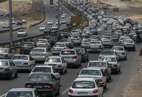ترافیک سنگین در مسیر جنوب به شمال محور کندوان   باران در ۳ جاده تهران-شمال