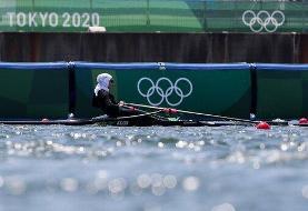 پایان کار نازنین ملایی با ثبت یک رکورد ملی در المپیک