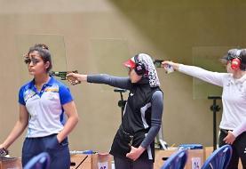 المپیک توکیو؛ هانیه رستمیان در جایگاه شانزدهم تپانچه قرار گرفت