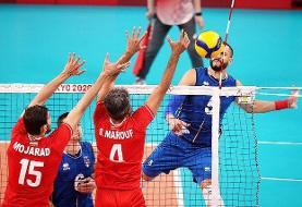 شکست والیبال ایران از ایتالیا/ همه چیز به بازی با ژاپن کشیده شد