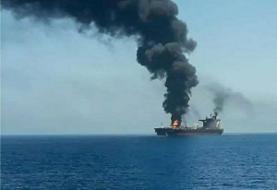 رویترز: ۲ خدمه کشتی مورد حمله در دریای عمان کشته شدند