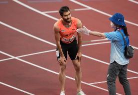 تفتیان از دو ۱۰۰ متر المپیک حذف شد