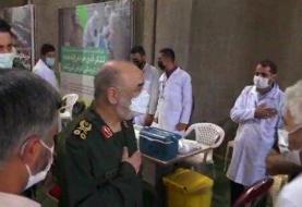 سرلشکر سلامی اولین دز واکسن ایرانی را دریافت کرد