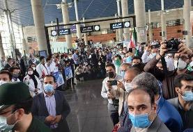 بازگشت طلایی کاروان المپیک ایران با استقبال مردم/عکس