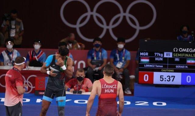 کشتی فرنگی المپیک/ محمدعلی گرایی فینال را از دست داد