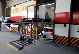 (تصاویر) رونمایی از اولین اتوبوس آمبولانس ساخت ایران