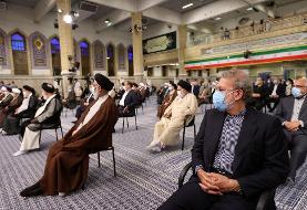 عکسی از حضور علی لاریجانی در مراسم تنفیذ ریاست جمهوری رئیسی