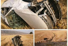 ایلام/ مرگ پدر و پسر در سقوط خودرو به پرتگاه