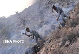 آتش سوزی گسترده در تنگ هایقر فیروزآباد فارس