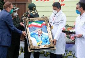 فرمانده کل سپاه از جواد فروغی قهرمان المپیک تجلیل کرد