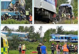 (تصاویر) برخورد دو قطار در چک