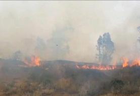 مهار آتش در تنگه هایقر فیروزآباد