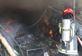 آتشسوزی سنگین فروشگاه رنگ مشهد/ مالک مغازه فوت کرد