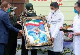 هدیه فرمانده کل سپاه به جواد فروغی، قهرمان المپیک توکیو +عکس