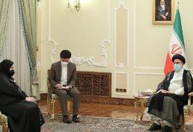 اولین دیپلمات زنی که با رئیسی دیدار کرد +عکس