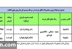 آغاز فروش فوق العاده ۲ محصول ایران خودرو از ۱۴ مرداد (+جدول فروش و جزئیات)