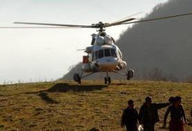 اعزام ۳ فروند بالگرد اطفای حریق به منطقه فیروزآباد شیراز