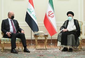 درخواست رئیسی ار رئیس جمهور عراق برای راه اندازی خط ریلی خرمشهر-بصره