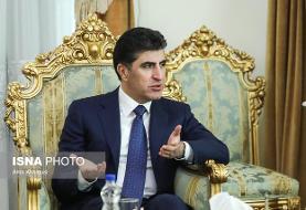 رئیس اقلیم کردستان عراق وارد ایران شد